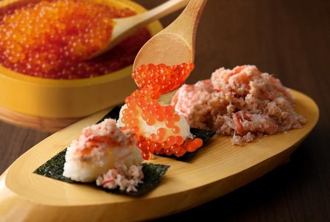 ニラックスいくら蟹寿司食べ放題